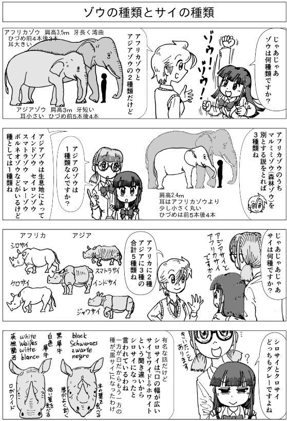 キリンは4種-4-ゾウとサイ.png