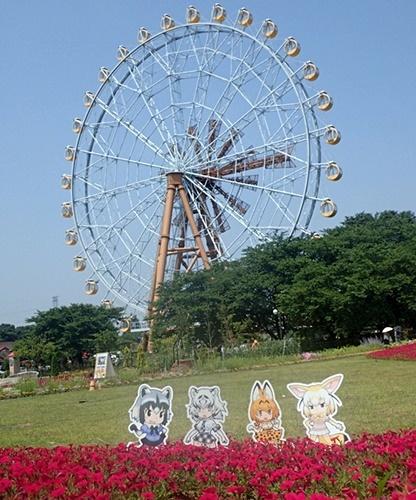 東武動物公園どうビス+ホワイトタイガー看板.JPG