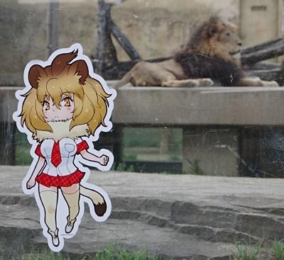 東武動物公園ライオン&フレンズ看板.JPG